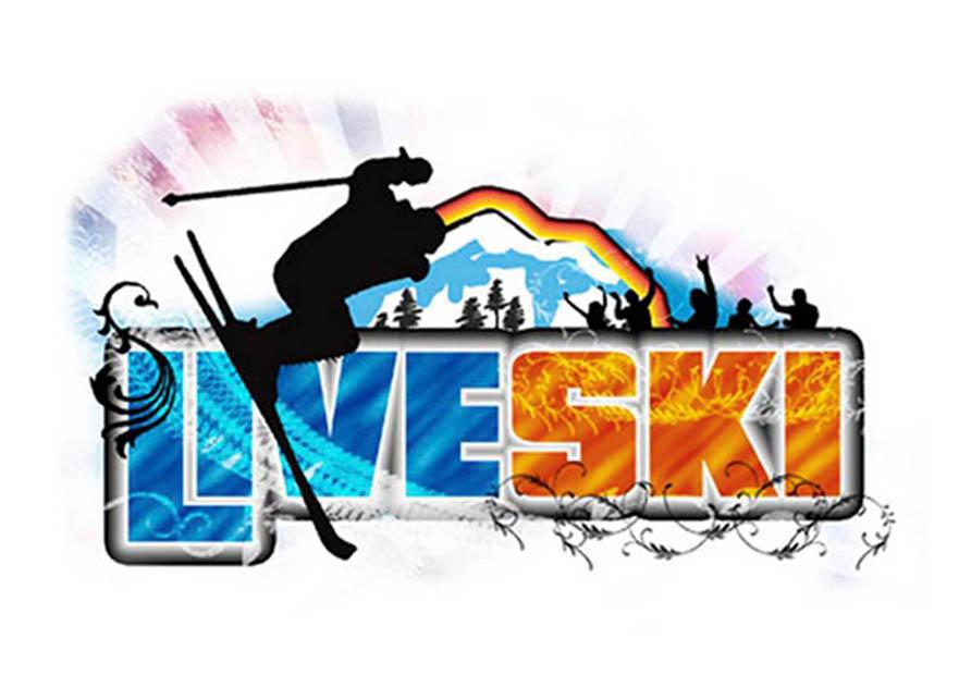 Diseño de logotipo y cartel para Liveski