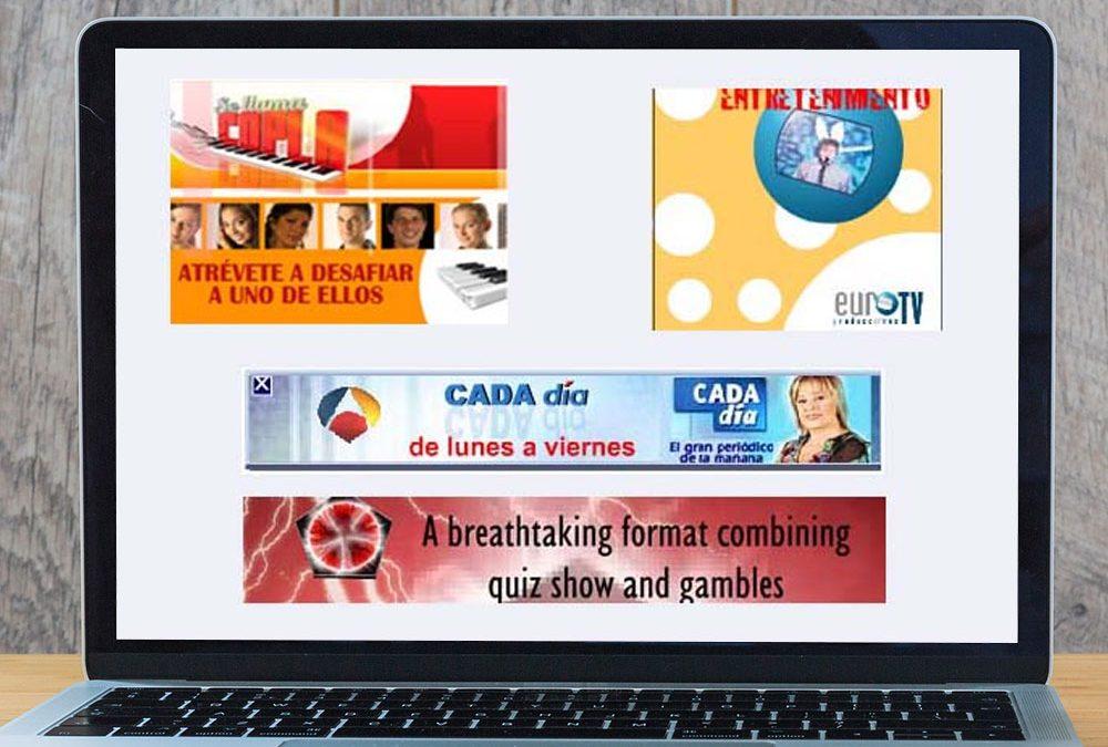 Banners animados con flash para la productora Europroducciones
