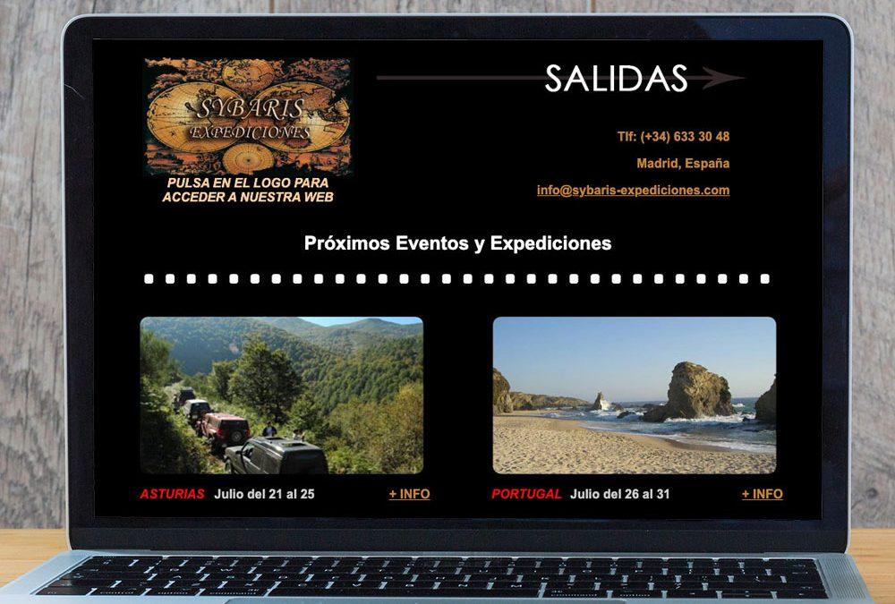 Web y banner animado para la página de Sybaris Expediciones