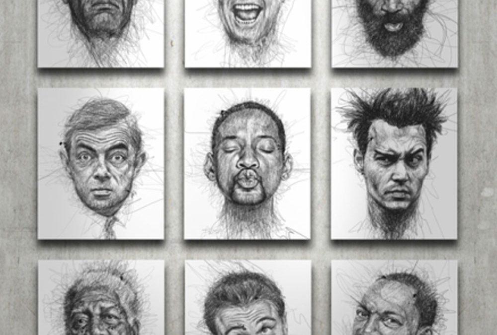 El arte del garabato a través de la dislexia