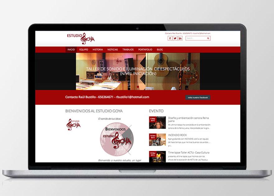 Diseño web e identidad de marca de Estudio Goya