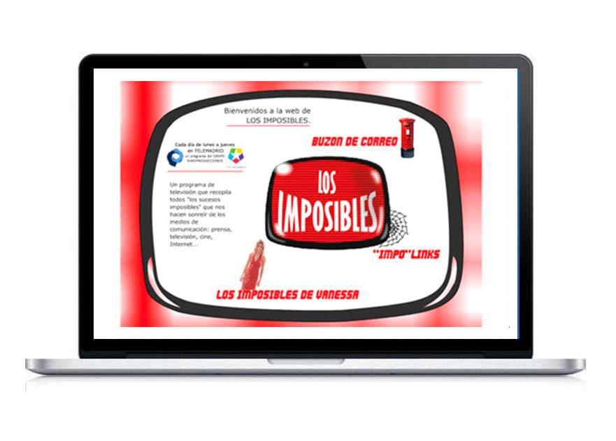 Desarrollo Web para el programa Los imposibles