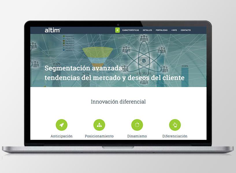 Diseño gráfico y web para altim. Clara Ortega Portafolio klerr