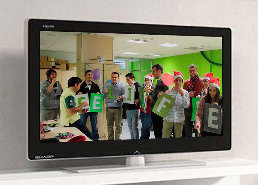 Video mannequin challenge de felicitación de Navidad de altim