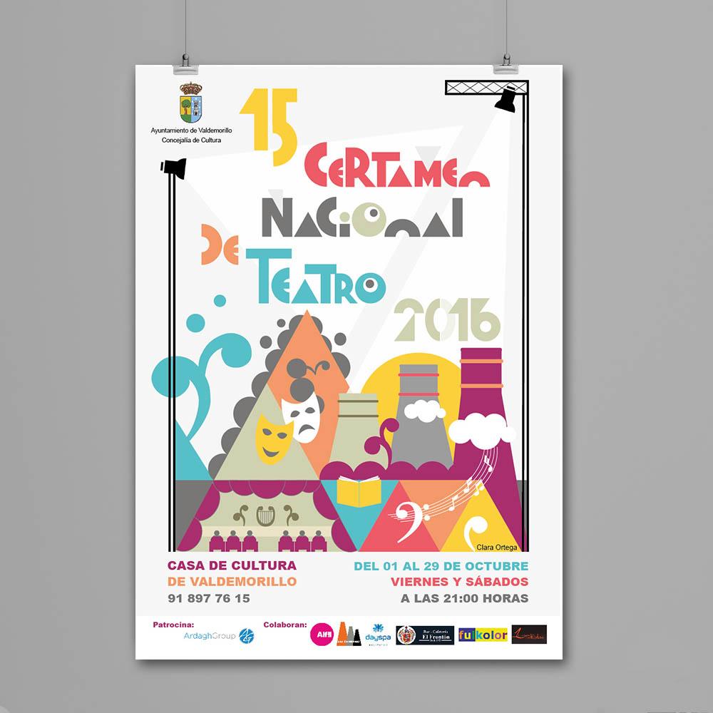 Diseño del Cartel Certamen de Teatro de Valdemorillo