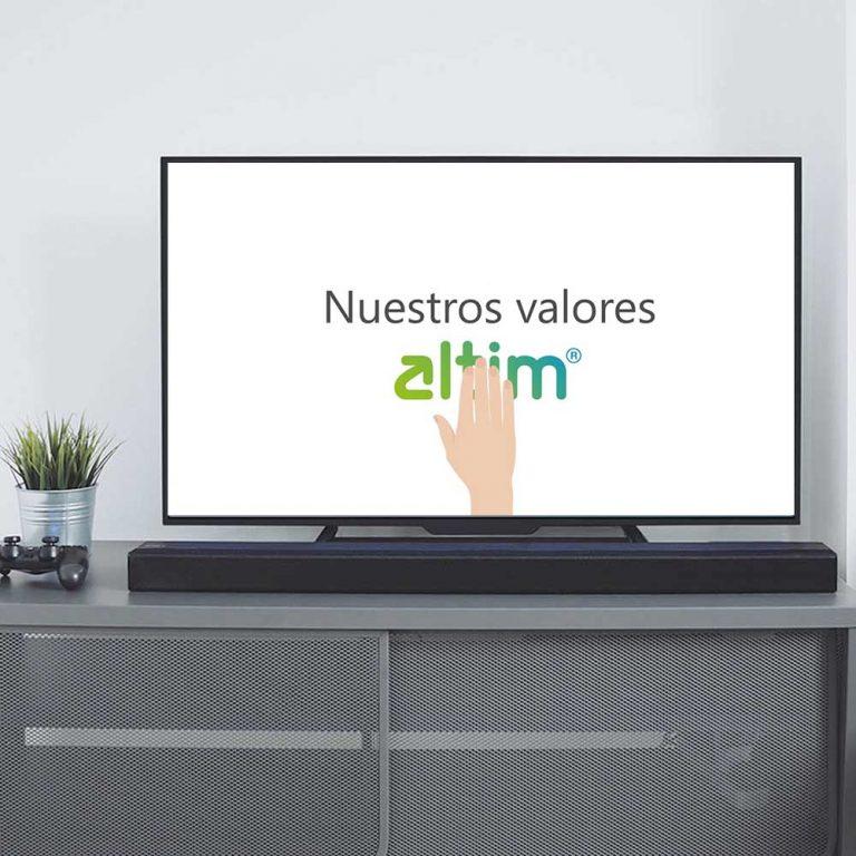 Animación de Video promo Valores de altim
