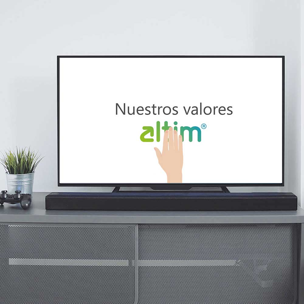 Animación del vídeo corporativo de Valores de altim