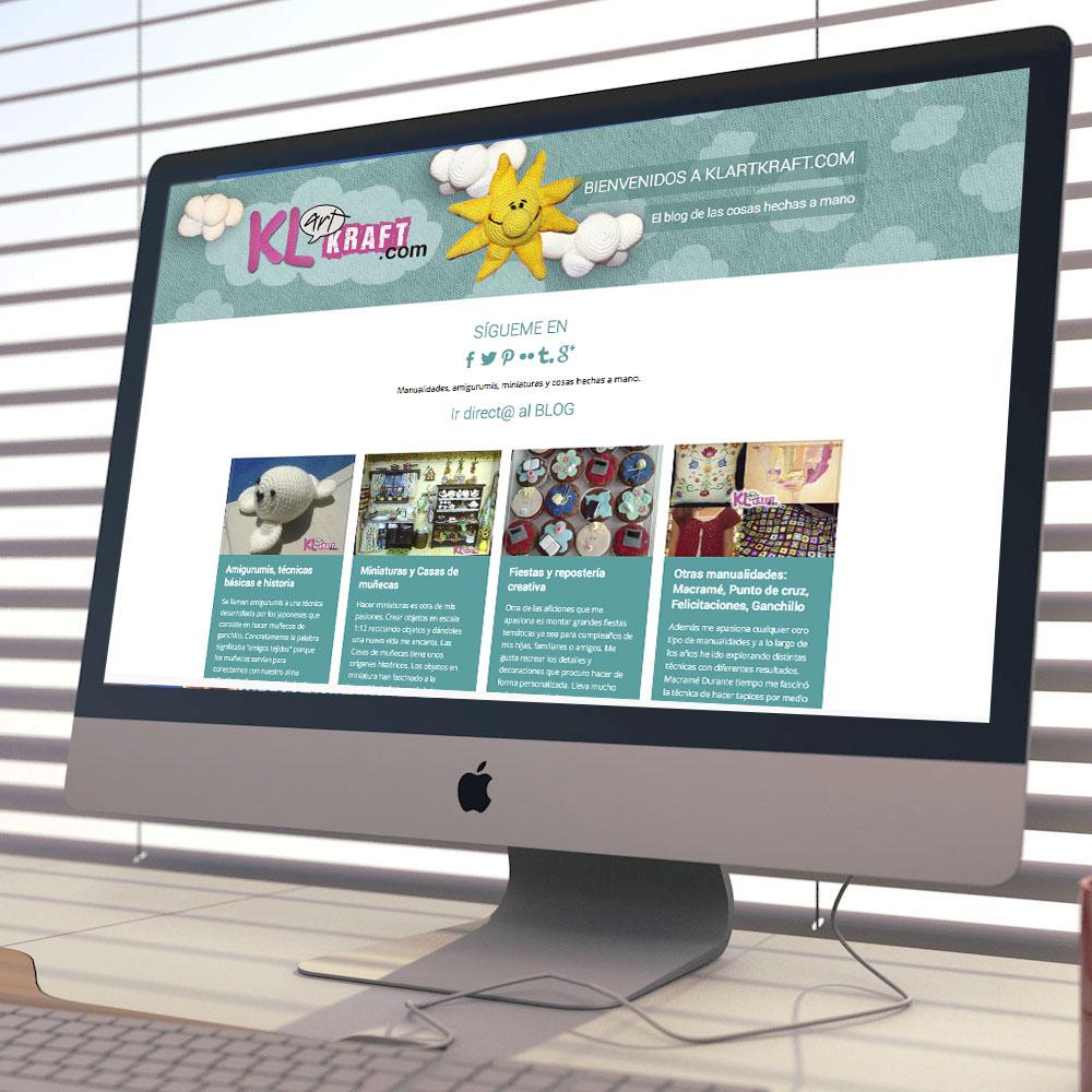 Diseño del blog, klartkraft, dedicado a las manualidades