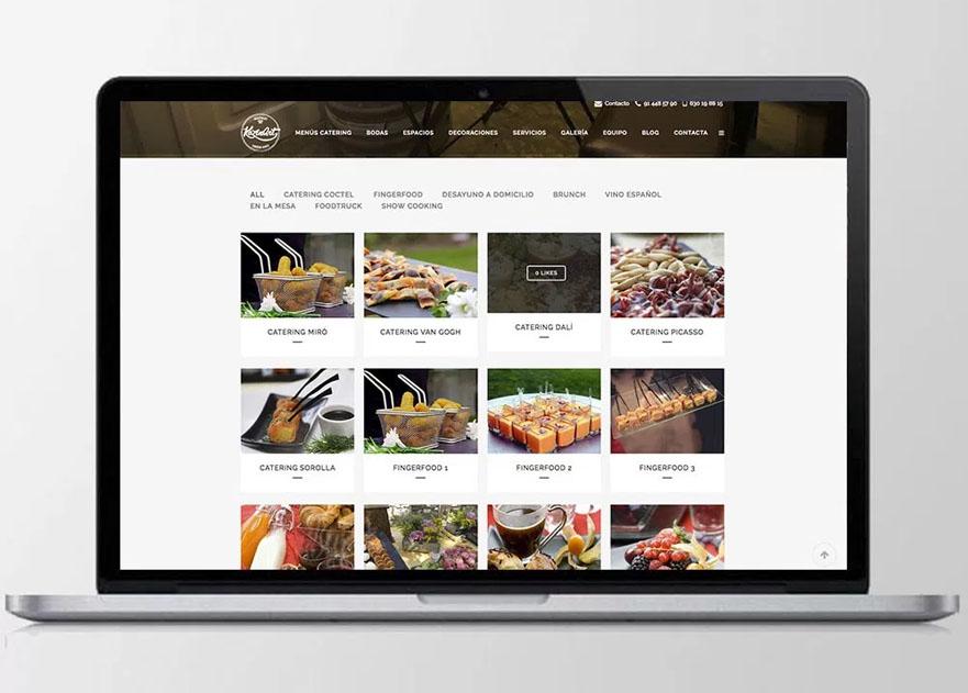 Diseño Web y logotipo para la empresa de catering kozinart
