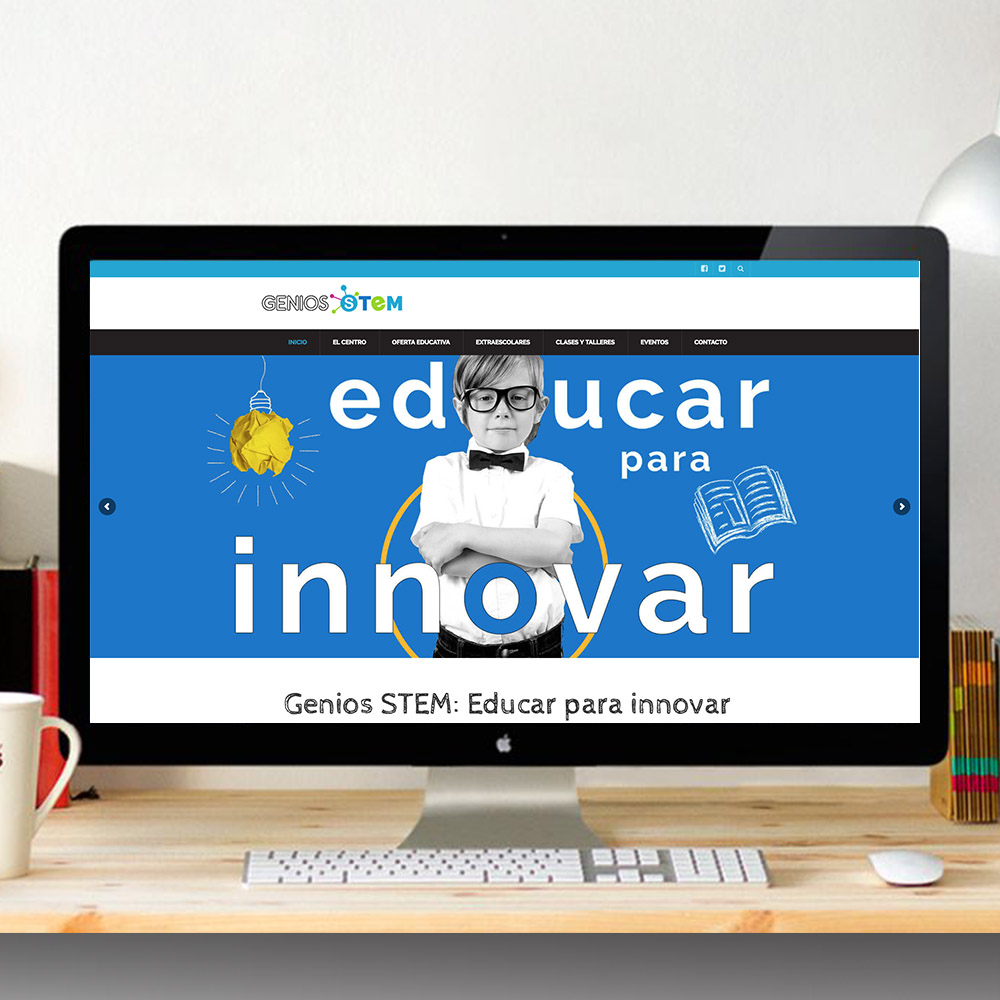 Diseño web de Centro educativo, Genios Stem