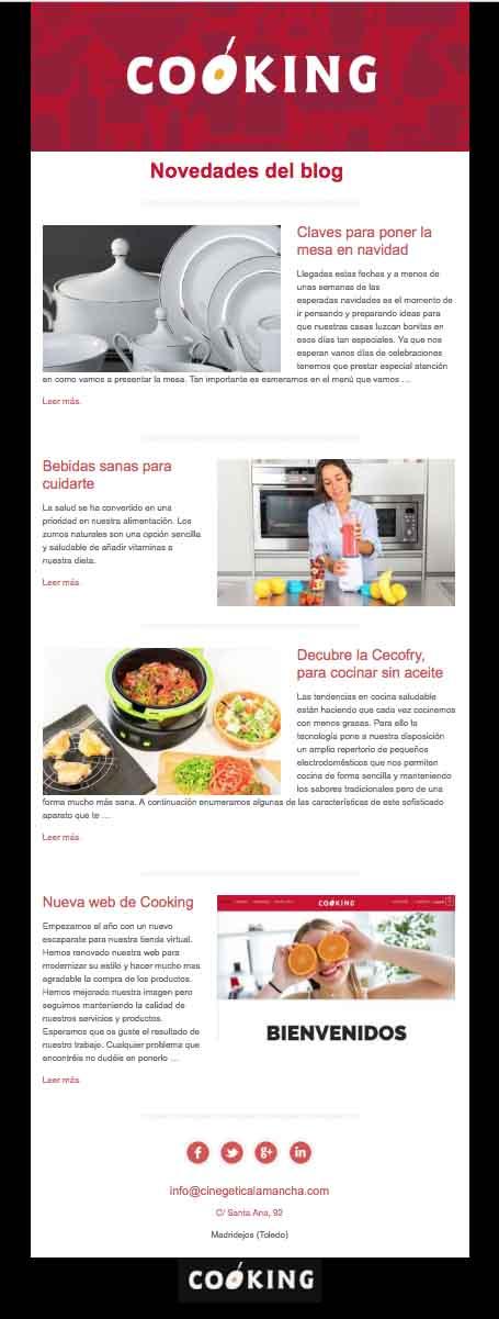 Newsletter cooking portafolio klerr- Clara Ortega