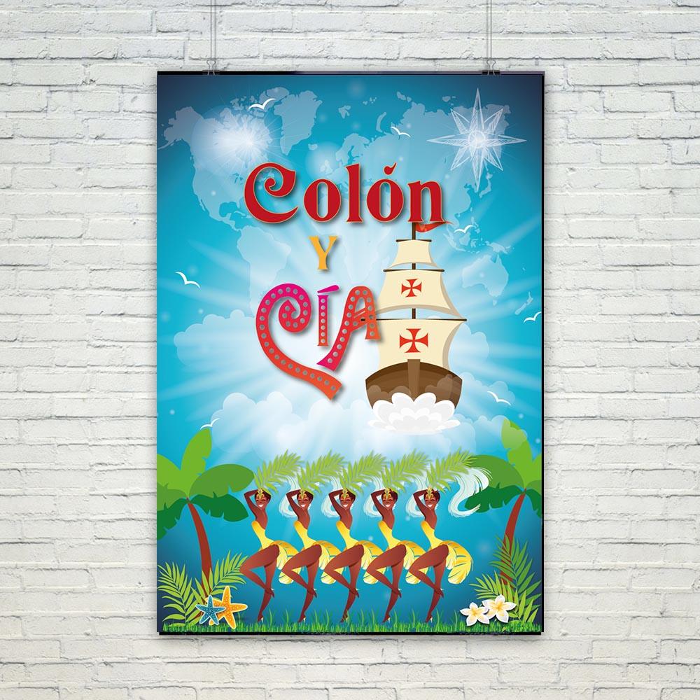 Cartel y Roll up de la obra de teatro Colón y Compañía