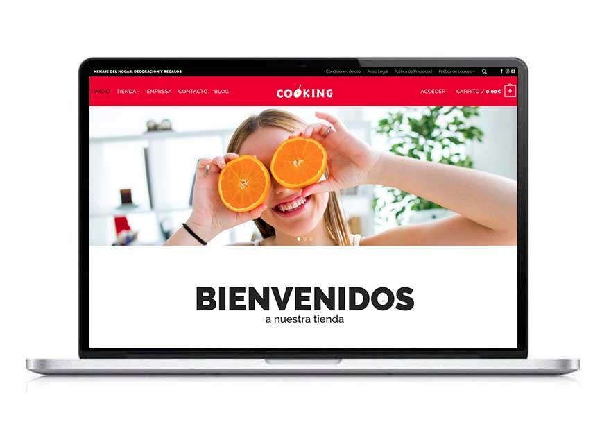 ecommerce Cooking portafolio diseño klerr