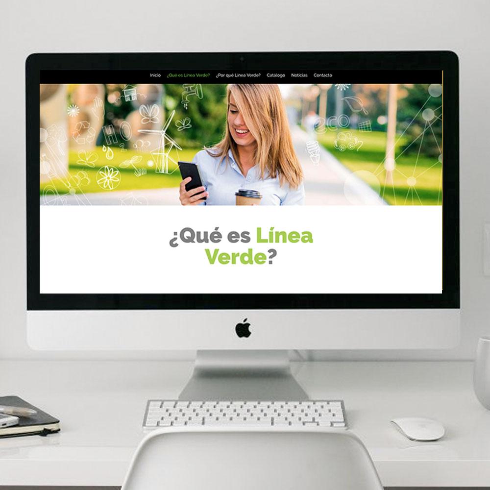 diseño web líenaverde Clara Ortega