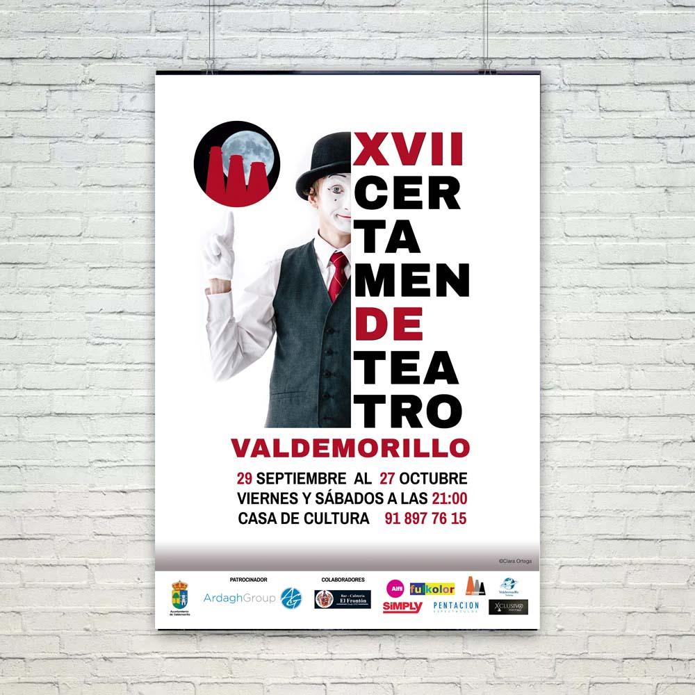 Cartel XVII Certamen de Teatro de Valdemorillo Portafolio Klerr Clara Ortega