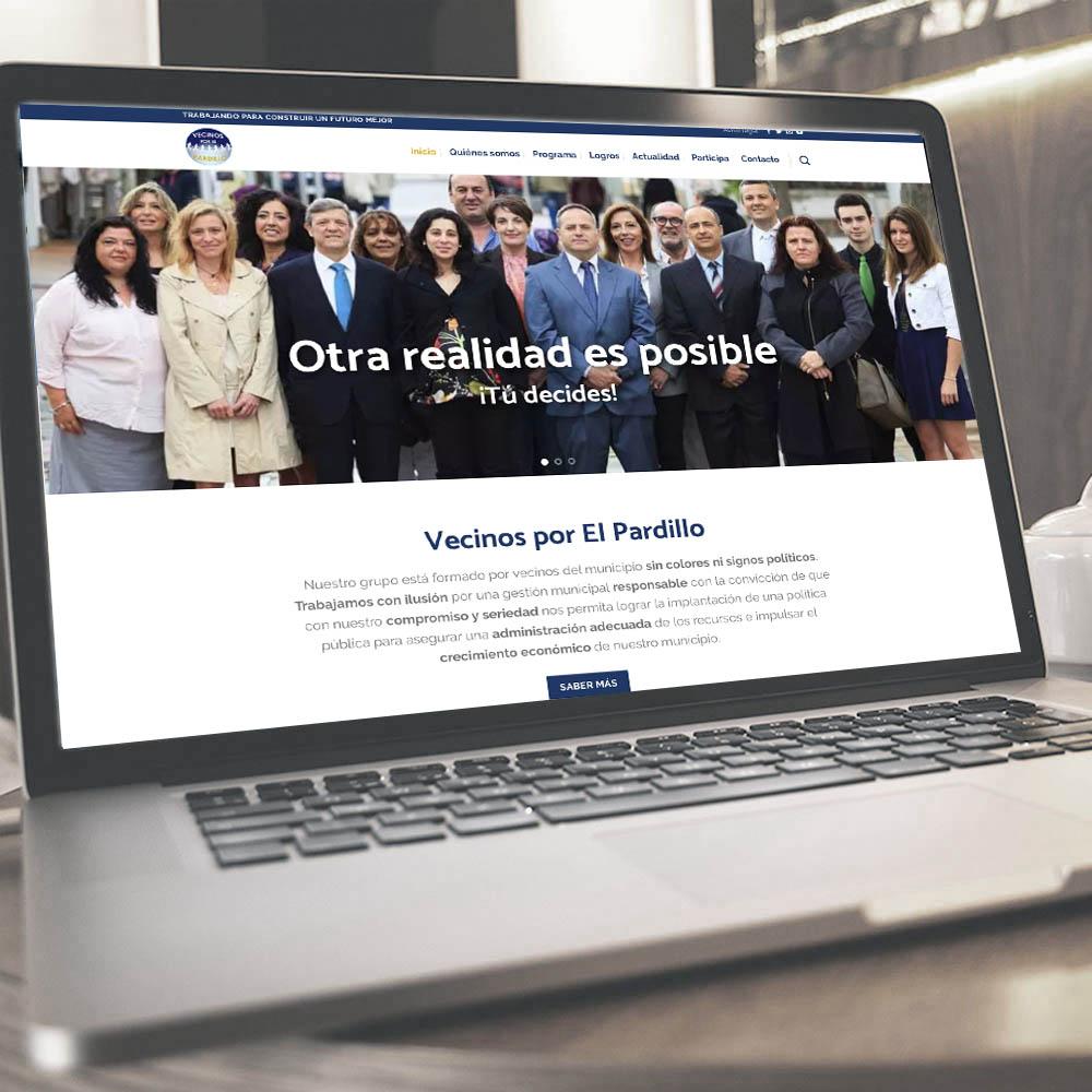 Web para partido político Vecinos por el Pardillo