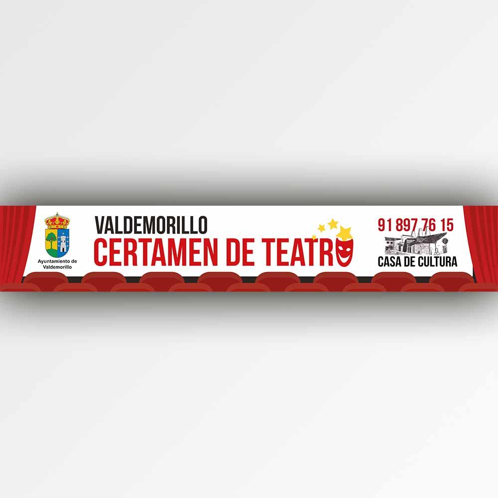 Pancarta Certamen de teatro genérica