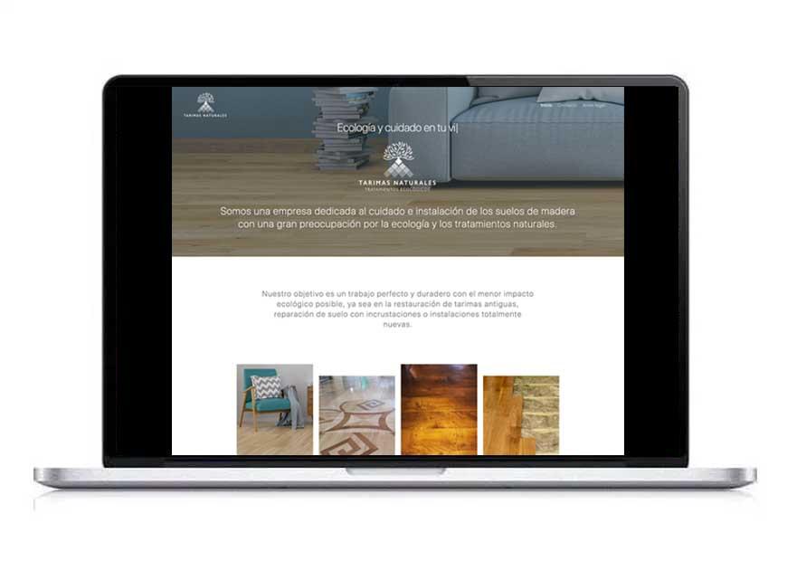 diseño web tarimas naturales - aclararte