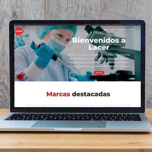 Lacer, web corporativa de la empresa