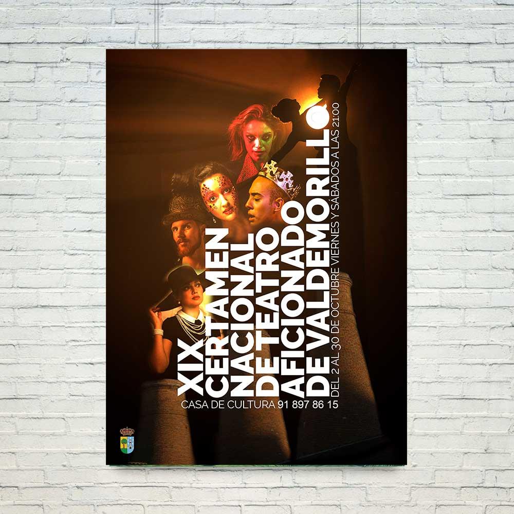 Diseño del Cartel del XIX Certamen de teatro aficionado de Valdemorillo. Estudio Aclararte.