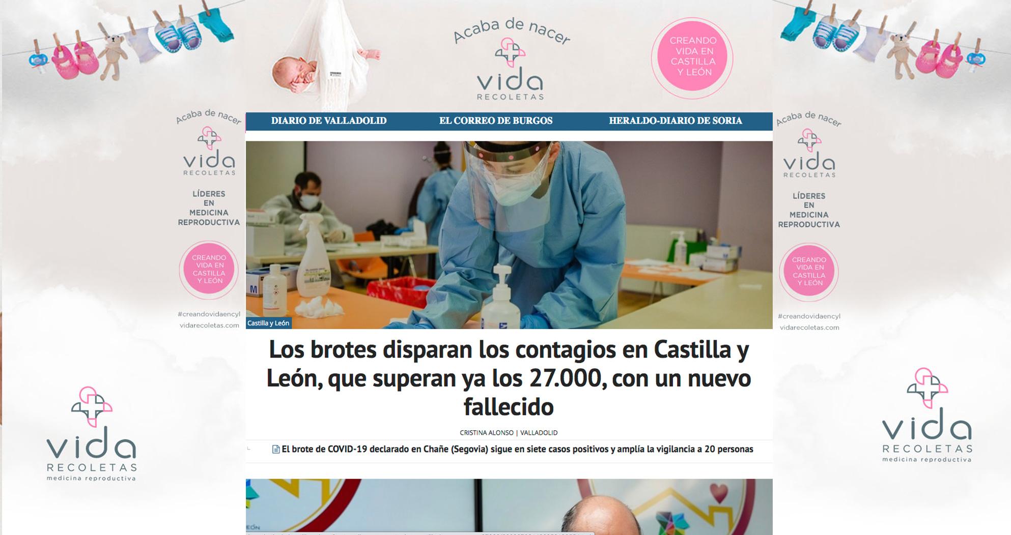 Publicidad digital y newsletter para la brand day de la empresa de fertilización Vida. Estudio Aclararte.